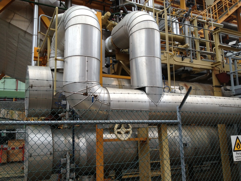 acoustic emission inspection of steam piping