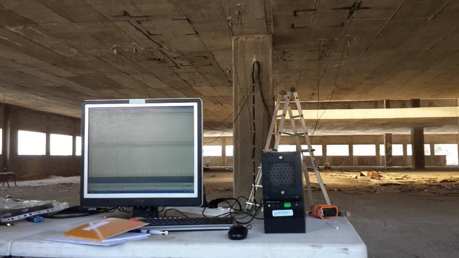 acoustic emission test of ceiling