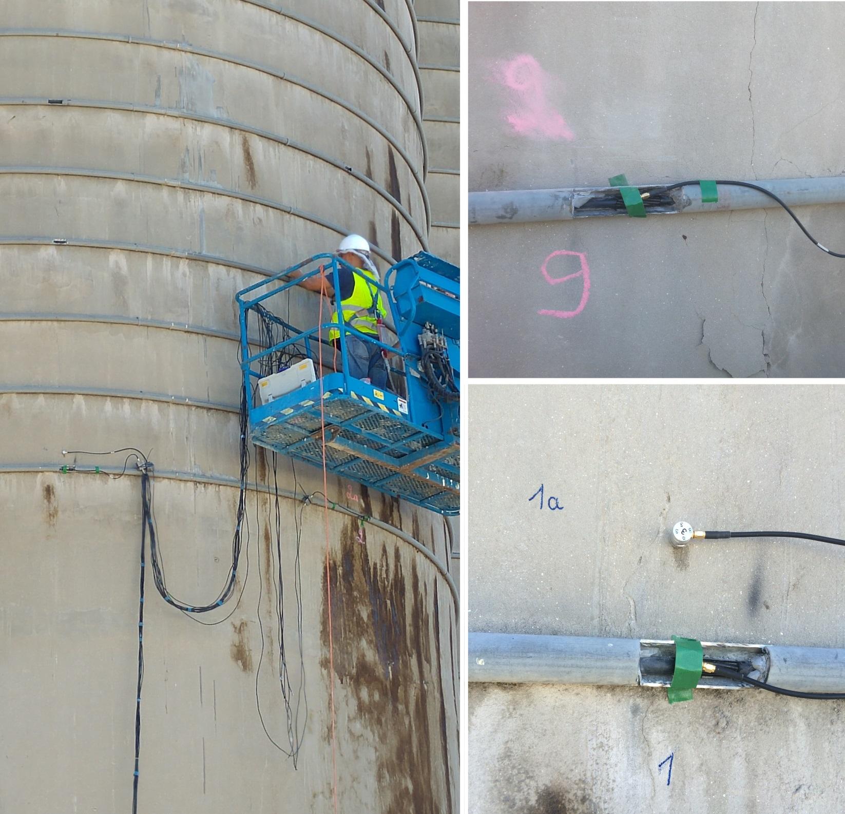 acoustic emission test of silo
